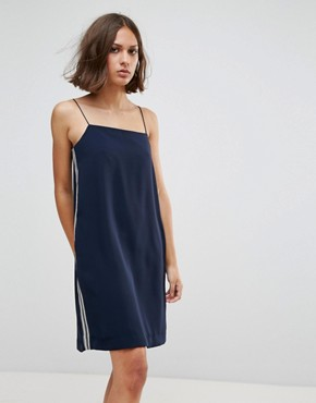 photo Carly High Neck Shift Dress by Wood Wood, color Navy - Image 1