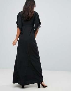 photo Embroidered Maxi Dress by Glamorous, color Black - Image 2