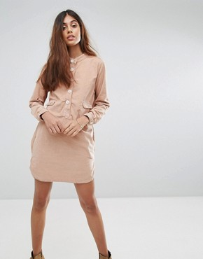photo Haritz Pocket Shirt Dress by Vanessa Bruno Athe, color Poudre - Image 1