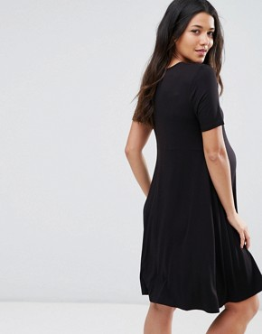 photo Swing Dress with Short Sleeve by ASOS Maternity PETITE, color Black - Image 2