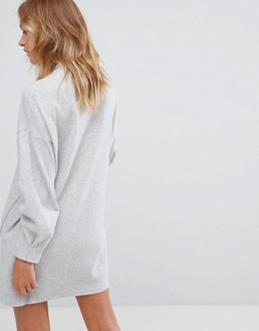 photo Jumper Dress with Exposed Seam by Pull&Bear, color Grey - Image 2