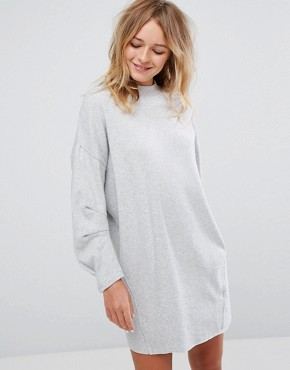 photo Jumper Dress with Exposed Seam by Pull&Bear, color Grey - Image 1