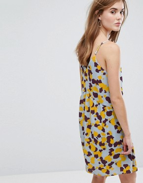 photo Printed Cami Dress by Vila, color Blue - Image 2
