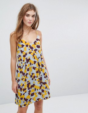 photo Printed Cami Dress by Vila, color Blue - Image 1