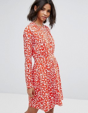 photo Floral Printed Shift Dress by Vila, color Red - Image 1