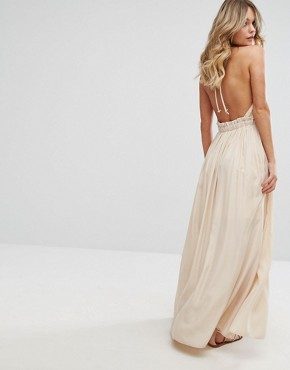 photo Sleeveless Maxi Dress by Moon River, color Nude - Image 2