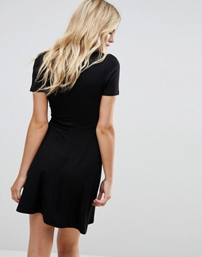 photo Mini Tea Dress by ASOS ULTIMATE, color Black - Image 2