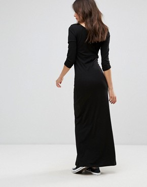 photo Three Quarter Sleeve Maxi Dress by Only, color Black - Image 2