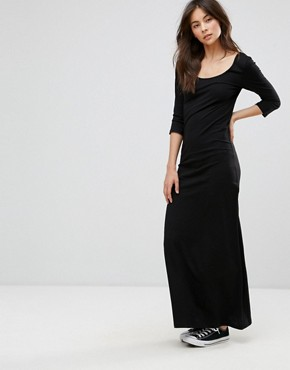 photo Three Quarter Sleeve Maxi Dress by Only, color Black - Image 1