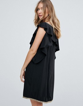 photo Frill Sides Cocktail Dress by Deby Debo, color Black - Image 2
