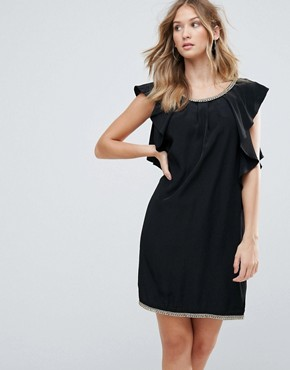 photo Frill Sides Cocktail Dress by Deby Debo, color Black - Image 1