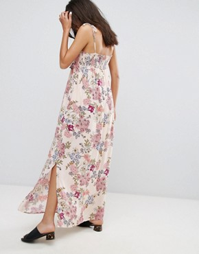 photo Floral Print Maxi Dress by Pimkie, color Nude Pattern - Image 2