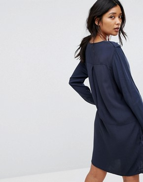 photo T-shirt Dress by Moss Copenhagen, color Blue - Image 2