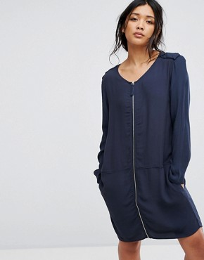 photo T-shirt Dress by Moss Copenhagen, color Blue - Image 1