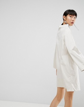 photo Funnel Neck Dress by ASOS WHITE, color Cement - Image 2