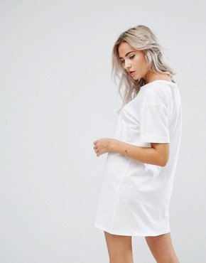 photo T-Shirt Dress with Rolled Sleeves by ASOS PETITE ULTIMATE, color White - Image 2
