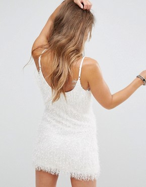 photo Cami Dress in Fluffy Fabric by Glamorous Petite, color White - Image 2