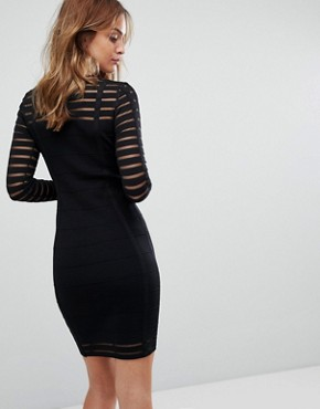 photo Bodycon Ribbed Dress by Supertrash, color Black - Image 2