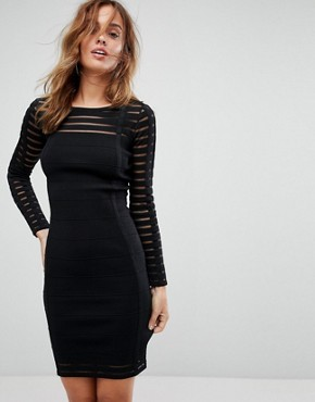 photo Bodycon Ribbed Dress by Supertrash, color Black - Image 1