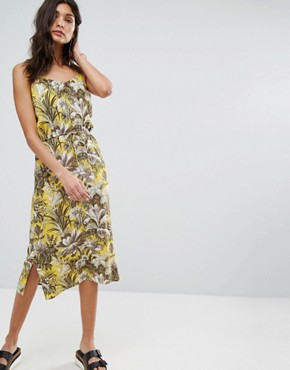 photo Amazon Print Dress by Warehouse, color Yellow - Image 1