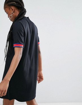 photo Embellished Arts High Neck Dress by Adidas Originals, color Black - Image 2