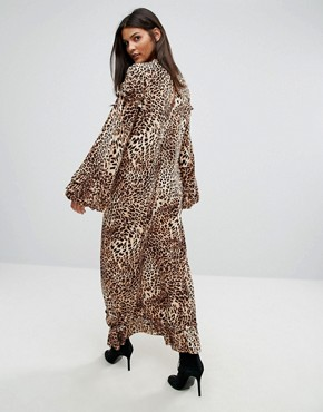 photo Leopard Long Dress by Gestuz, color Leopard - Image 2
