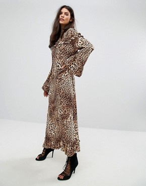 photo Leopard Long Dress by Gestuz, color Leopard - Image 1