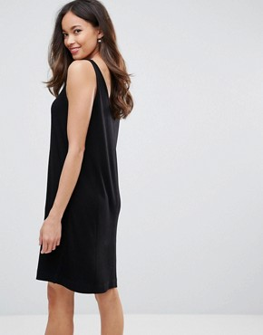photo Lulla V-Neck Slip Dress by Selected, color Black - Image 2