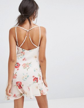 photo Floral Printed Cami Dress by Bershka, color Multi - Image 2