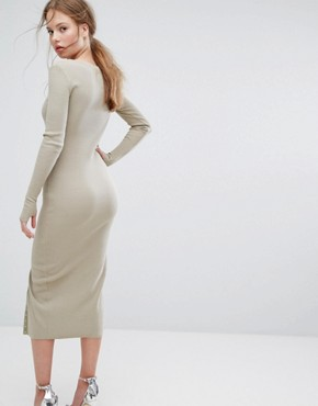 photo Without Pitty Button Down Dress by Asilio, color Iguana - Image 2