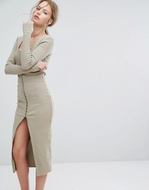 photo Without Pitty Button Down Dress by Asilio, color Iguana - Image 1