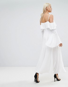 photo Compose Ruffle Maxi Dress by C/meo Collective, color Ivory - Image 2