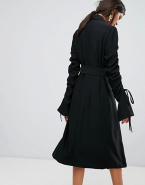 photo Right Kind Of Madness Trench Dress by C/meo Collective, color Black - Image 2