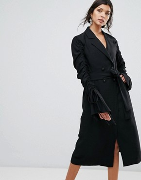 photo Right Kind Of Madness Trench Dress by C/meo Collective, color Black - Image 1