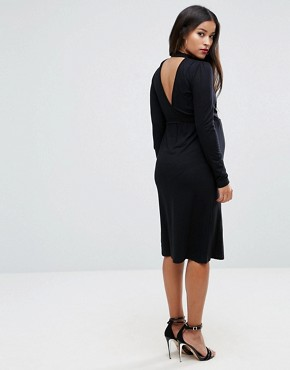 photo Dress with Wrap and Choker Detail by ASOS Maternity PETITE NURSING, color Black - Image 2