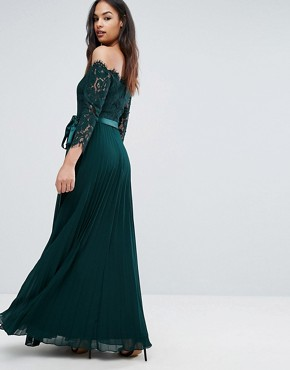 photo Imi Lace Maxi Dress by Coast, color Green Forest - Image 2
