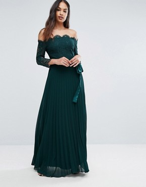 photo Imi Lace Maxi Dress by Coast, color Green Forest - Image 1