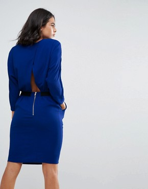 photo Cecca Open Wrap Back Tulip Dress by Y.A.S, color Cobalt - Image 2
