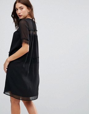 photo Cicotta Lace Insert Dress by Y.A.S, color Black - Image 2