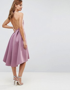 photo Halter Neck Prom Midi Dress by ASOS, color Orchid - Image 2