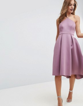 photo Halter Neck Prom Midi Dress by ASOS, color Orchid - Image 1