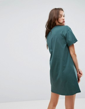 photo T-Shirt Dress with Rolled Sleeves by ASOS ULTIMATE, color Forest Green - Image 2