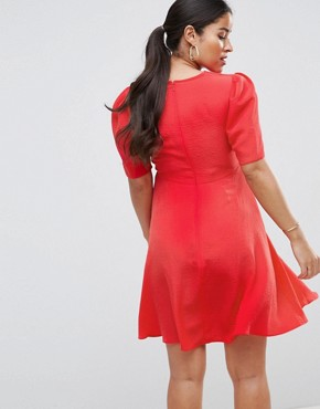 photo Mini Tea Dress by ASOS Maternity, color Red - Image 2