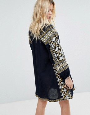 photo Embroidered Boho Dress by Maison Scotch, color Navy - Image 2