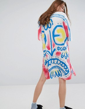 photo Colourful Mask Dress by Typical Freaks, color Multi - Image 2