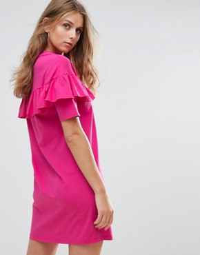 photo Relaxed T-Shirt Dress with Frill by Nobody's Child, color Pink - Image 2