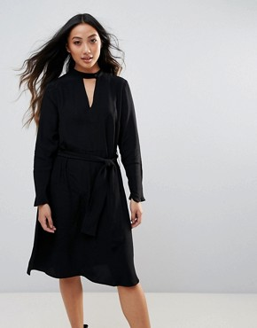 photo Hamie Wrap Dress by Just Female, color Black - Image 1
