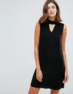 photo Emma Sleeveless Shift Dress by Just Female, color Black - Image 1