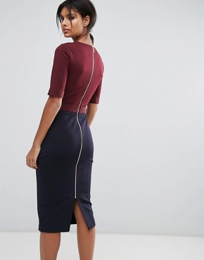 photo Ponte Dress by Ted Baker, color Navy - Image 2