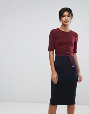 photo Ponte Dress by Ted Baker, color Navy - Image 1